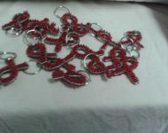 wire and bead aids ribbon keyrings