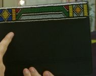 beaded i-pad holder